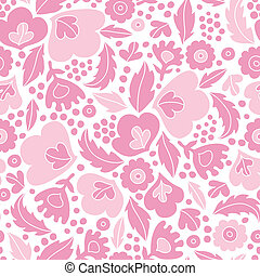 Soft pink floral silhouettes seamless pattern background