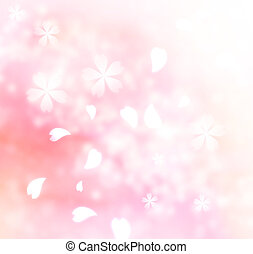 Soft pink flower background - Soft spring pink flower petals...