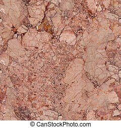 Soft pink marble texture with contrast cracks. Seamless square background, tile ready.