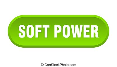 soft power button. rounded sign on white background