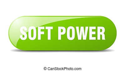 soft power button. sticker. banner. rounded glass sign