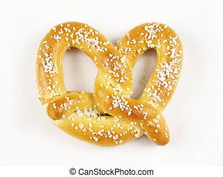 Soft Pretzel - A warm and chewy salted soft pretzel.