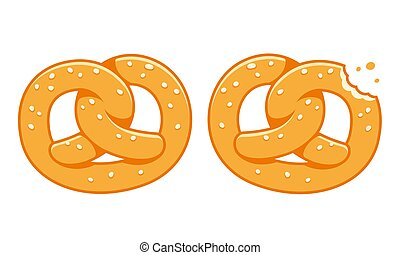 Soft pretzel illustration - Soft pretzels, traditional...