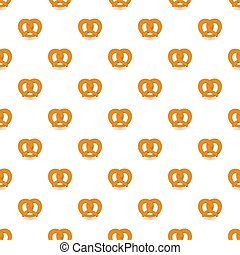 Soft pretzel pattern seamless repeat background for any web...