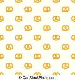 Soft pretzel pattern seamless vector