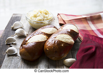 Soft Pretzel Style Bread - Bread made in German soft pretzel...