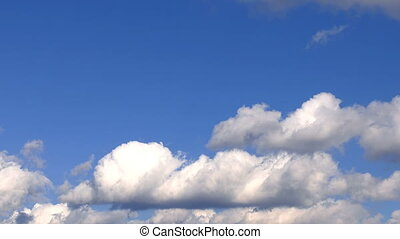 Soft Rainy Clouds and Blue Sky