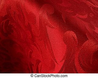 Soft red fabric closeup