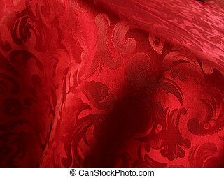 Soft red fabric closeup
