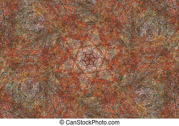 Soft Red Mandala Background