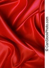 Soft red satin