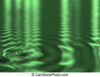 soft ripples - green water background