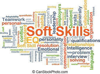 Soft skills background concept - Background concept...