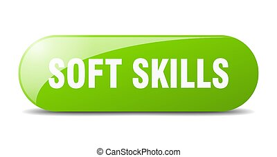 soft skills button. sticker. banner. rounded glass sign