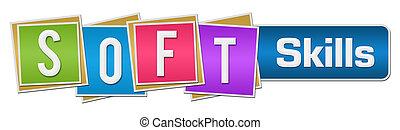 Soft Skills Colorful Blocks Bar - Soft skills text written...