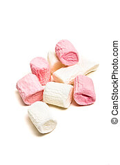 marshmallows - Soft small pink and white marshmallows ...