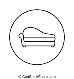 Soft sofa icon.