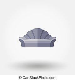 Soft sofa. Shell.