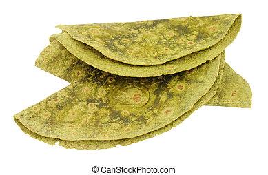 Soft Spinach Flavour Tortilla Wraps - Soft spinach flavour...