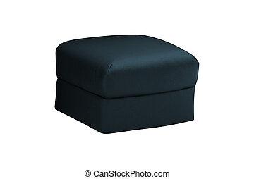 Soft stool isolated on white