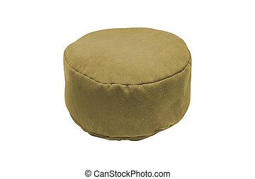 Soft stool. isolated on white