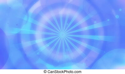 Soft subtle circle abstraction in blue looping background