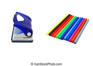 soft-tip, loch, kugelschreiber, puncher