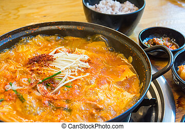 soft tofu soup - korean style