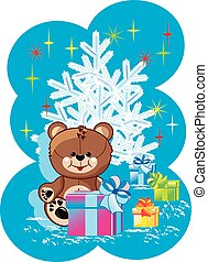 soft toy bear and gifts