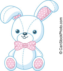 Soft toy bunny - White bunny soft toy for children