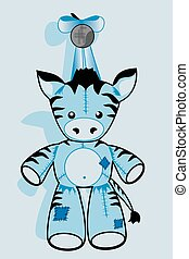 soft toy zebra