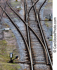 soft trains - soft rails on a railroad. symbolic photo for...