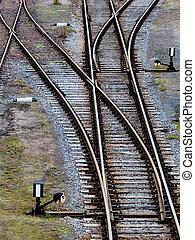 soft trains - soft rails on a railroad. symbolic photo for...