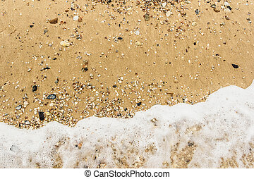 Soft wave of sea on the sandy beach background