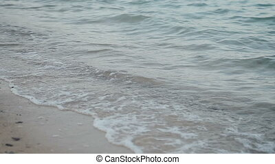 Soft wave of sea on the sandy beach