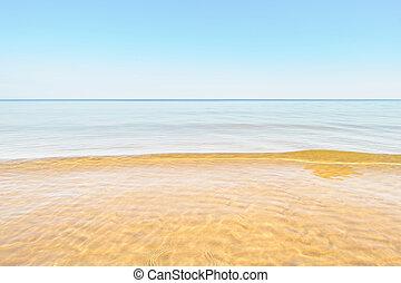 Soft waves at beach
