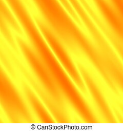 Soft Yellow Luxury Background. Fabric Illusion. Simple...