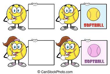 Softball Character Collection 5
