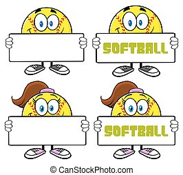 Softball Character Collection Set 3