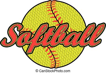 Softball Design With Textured Ball