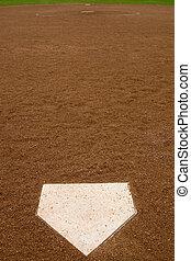 Softball Diamond - Directly behind home at a softball...
