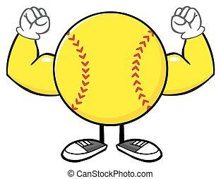 Softball Faceless Flexing