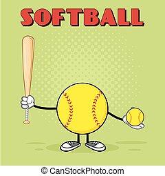 Softball Faceless Player