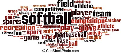 Softball-horizon - Softball word cloud concept. Vector ...