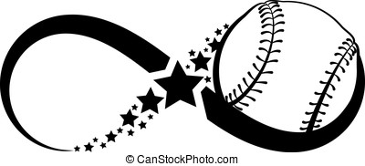 Softball Infinity - The infinity symbol with a ball in the...