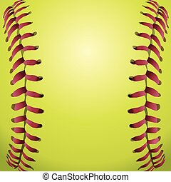 A closeup background illustration of softball laces. Vector EPS 10 available.
