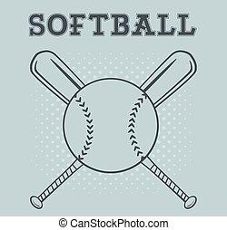 Softball Logo Design With Text