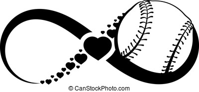 Softball or Baseball Love Infinity - Infinity symbol with a...