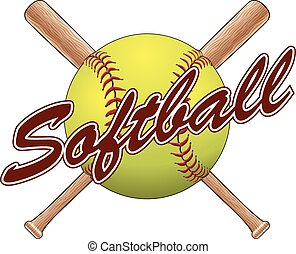 Softball Team Design is an illustration of a softball design...