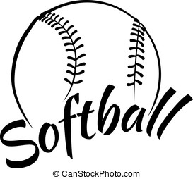 Softball with Fun Text - Stylized vector illustration of a...